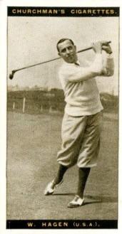 1927 Famous Golfers Walter Hagen Golf