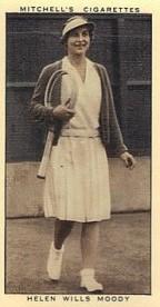 1936 Mitchell's Helen Wills Tennis