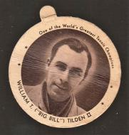 Bill Tilden F7 1937 Dixie Lids Tennis