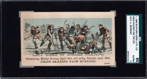 Bufford Sons Hockey on the Ice Trade Card (1880)