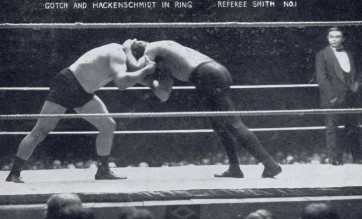 Gotch Hackenschmidt Wrestling Postcard