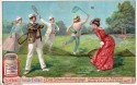 Liebig Butterfly Chase Trade Card Tennis