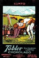 Tobler Chocolates Stamp Wrestling