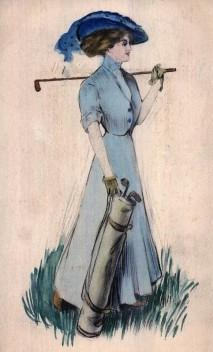 Woman Golf Postcard