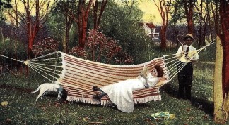 1906 Illustrated Postcard Company of New York Tennis Hammock