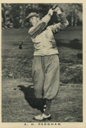 1937 Wills British Sporting Personalities Padgham Golf