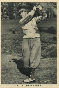 1937 Wills British Sporting Personalities Padgham Golf