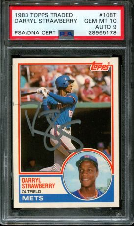 Darryl Strawberry 1983 Topps Traded Rookie Card