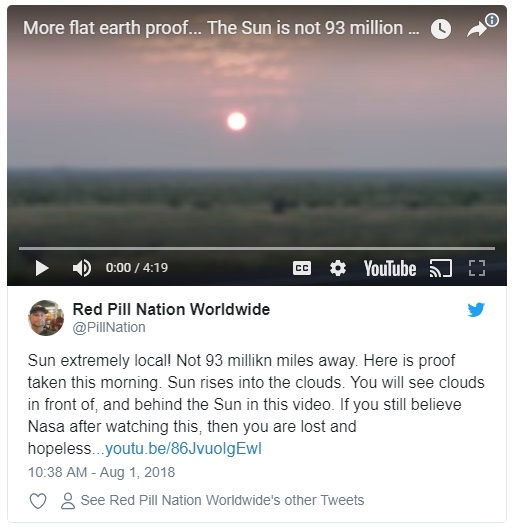 Flat Earth Tweet