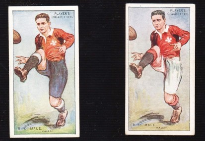 B.O. Male 1928-29 Footballers Variations Player and Sons Rugby