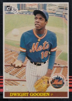 Dwight Gooden 1985 Donruss Box Bottom