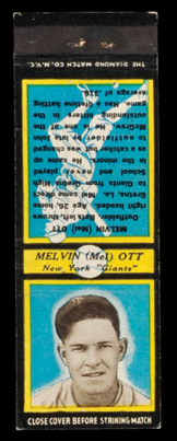 U2 Mel Ott Diamond Matchbook