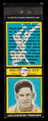 U2 Mel Ott Diamond Matchbook