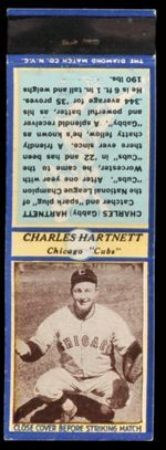 U3-1 Gabby Hartnett Diamond Matchbook
