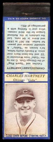 U3-2 Gabby Hartnett Diamond Matchbook