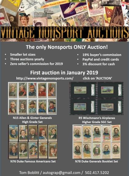 Vintage NonSports Auction 2019