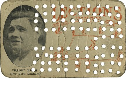Babe Ruth 1923 Lections Holes