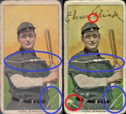 Elmer Flick Forged T206 Autograph