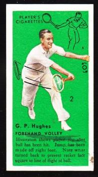 GP Hughes 1936 Players Tennis No 1