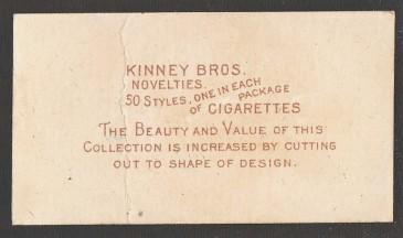 N228-5 Kinney Baseball Back