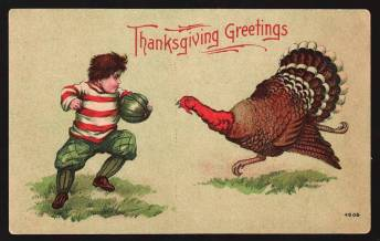 Thanksgiving Football postcard 2