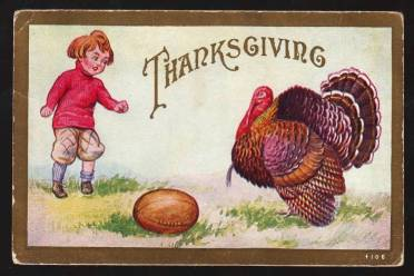 Thanksgiving Football postcard 3