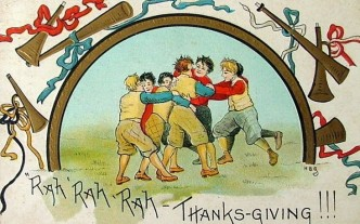 Thanksgiving Football postcard 4