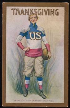 Thanksgiving Football postcard