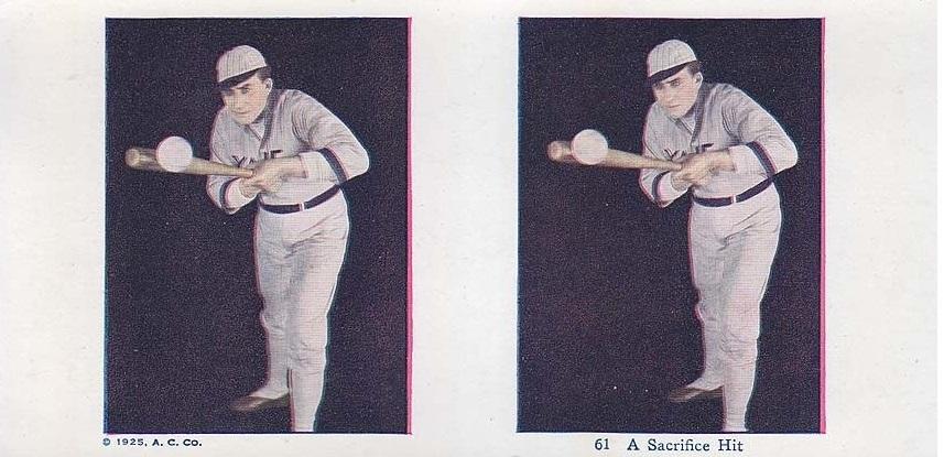 1925 A.C. Yale Stereoscope Baseball Player