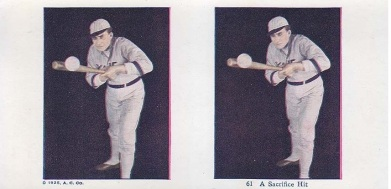 1925 A.C. Yale Stereoscope Baseball Player