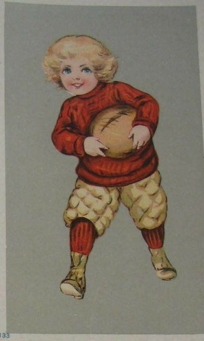 205 western and southern life insurance football trade card