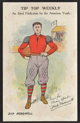 Dick Merriwell Tip Top Weekly Football Postcard