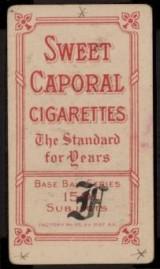 F Scott Fitzgerald T206 Back Stamp