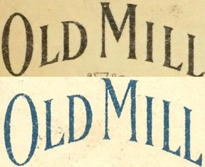 t206 old mill blue ink back vs. black ink back comparison