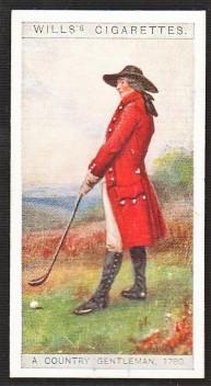 1929 Wills English Period Costumes Golf