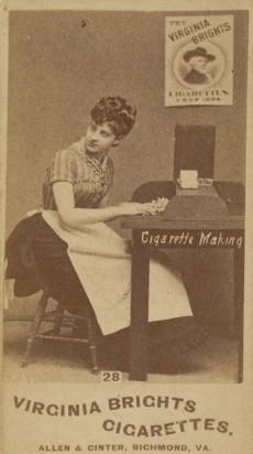 N46 Allen & Ginter Cigarette Making Girls