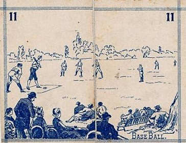 1889 Milton Bradley American Sports Baseball