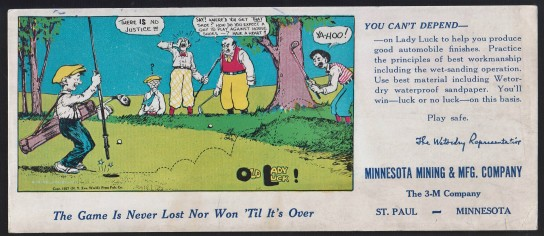 1927 3M Golf Blotter 2