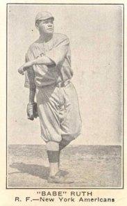 Babe Ruth E121 American Caramel