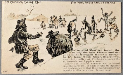 Coontown C931 Curling Trade Card