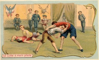 Geurin-Boutron Le Jeux D'Enfants Trade Card Wrestling