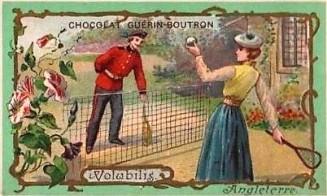 Guerin-Boutron Flowers Tennis Trade Card