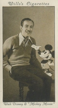 1931 Wills Cinema Stars Walt Disney Mickey Mouse Rookie Card