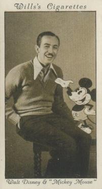 1931 Wills Cinema Stars Walt Disney Mickey Mouse Rookie Card