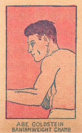 Abe Goldstein W512 Boxing Strip Card No Number