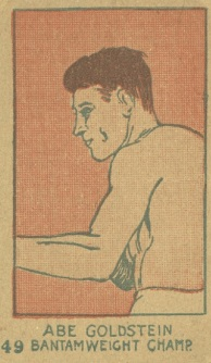 Abe Goldstein W512 Boxing Strip Card With Number