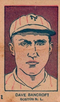 Dave Bancroft W512 Strip Card Number at Border