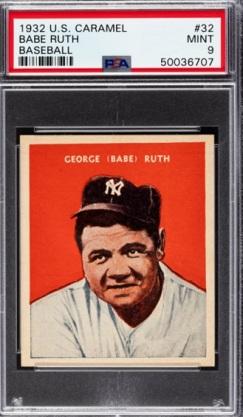 Ruth 1933 US Caramel PSA 9