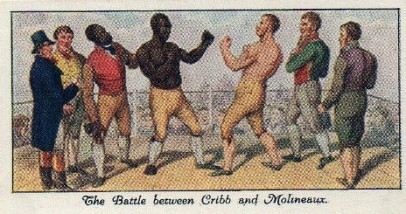 1930 Mitchell Old Sporting Prints Tom Cribb and Tom Molineaux Boxing Match