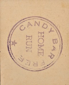 1936 Home Run Candy Back